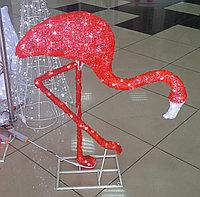 """Акриловая фигура """"Фламинго"""",красный, 0,95м"""