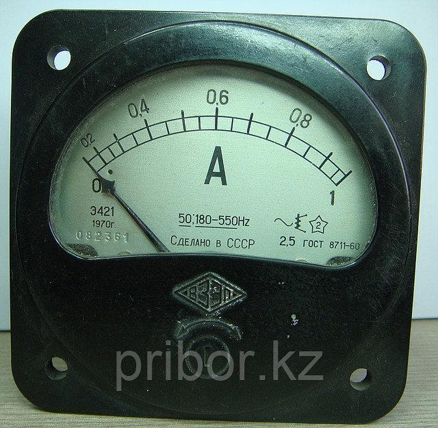 Э421 Амперметр,  миллиамперметр переменного тока.