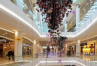 Оформление торговых центров к новому году в Алматы