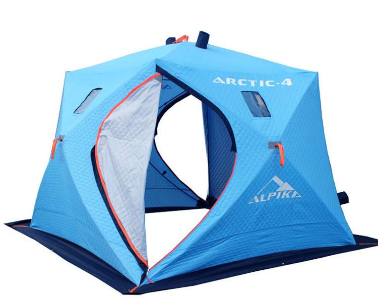 """Палатка для рыбалки """"Арктика-Альпика"""" зимняя трехслойная (утепленная) КУБ 230 x230"""