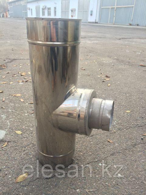 Тройник трубы дымовой утепленной из нержавеющей стали