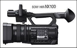 Профессиональный NXCAM камкордер  Sony HXR-NX100