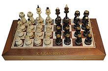 Классические шахматы-нарды из дерева орех