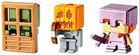Minecraft mini 4 серия набор Алекс в зачарованной броне, Скелет в тыкве, Зомби с дверью