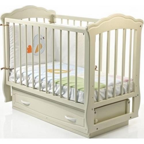 Детская кроватка Кармелита (без ящика, белый, слоновая кость) Россия Можга