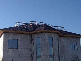 Солнечная водонагревательная система HP90 на ГВС и поддержку отопления, мкр.Уркер, г. Астана 1