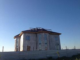 Солнечная водонагревательная система HP90 на ГВС и поддержку отопления, мкр.Уркер, г. Астана 2