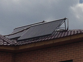 Солнечная водонагревательная система HP90 на ГВС и поддержку отопления, мкр.Уркер, г. Астана 4