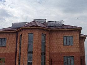 Солнечная водонагревательная система HP90 на ГВС и поддержку отопления, мкр.Уркер, г. Астана 5