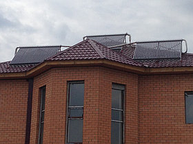 Солнечная водонагревательная система HP90 на ГВС и поддержку отопления, мкр.Уркер, г. Астана 7