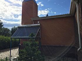 Солнечный водонагреватель пассивный 300л 36 вакуумных трубок, Мечеть, ст. Сороковая 3