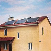 Солнечная водонагревательная система HP110 на ГВС и поддержку отопления, мкр.Уркер, г. Астана 1