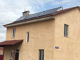 Солнечная водонагревательная система HP110 на ГВС и поддержку отопления, мкр.Уркер, г. Астана 2