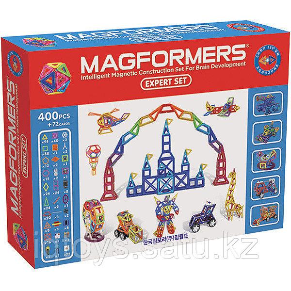 Магнитный конструктор Magformers Expert Set (400 дет +72 доп.элемента)
