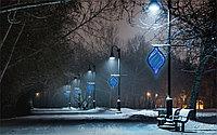 Уличное оформление к новому году в Алматы
