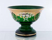 Фруктовница 20см зеленая (JN Glass, Чехия)