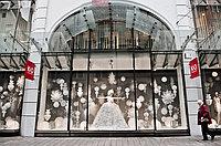 Оформление к новый год витрин в Алматы