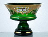 Фруктовница 26см зеленая (JN Glass, Чехия)