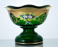 Конфетница 13см зеленая (JN Glass, Чехия)