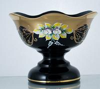 Конфетница 13см черная (JN Glass, Чехия)
