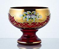 Конфетница 16см красная (JN Glass, Чехия)