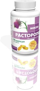 Расторопша, масло - защитник печени  90 капсул по 1350 мг