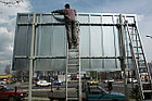 Монтаж баннеров 400тг/кв.м. в Алматы Биллбоарды, Billboard, регулярная замена, фото 8