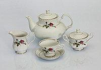 Сервиз чайный 12 персон 27 предм Iwona (Exclusive Bohemia, Чехия)