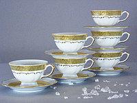 Набор чайных пар 6 персон Лента матовая (Epiag Lofida, Чехия)