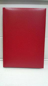 Ежедневник А5 полудатированный (красный)