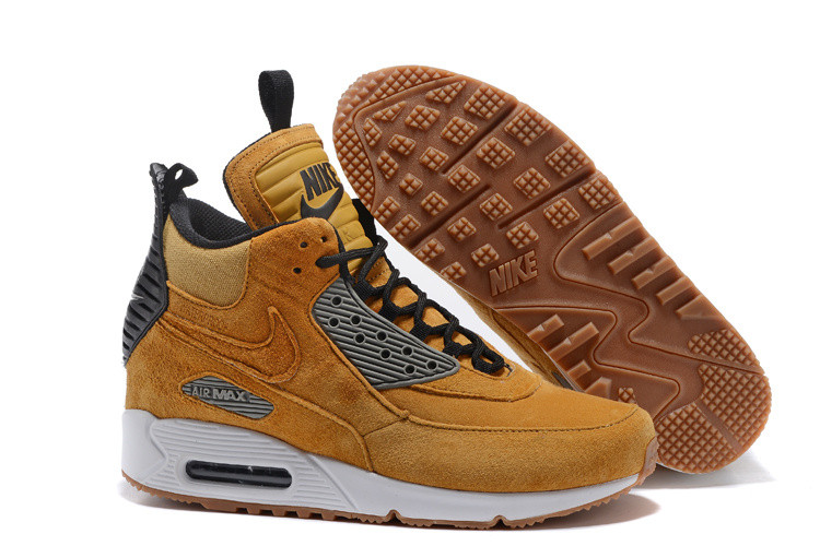 Зимние кроссовки Nikе Air Max 90 Sneakerboot Ice Wheat (40-46)
