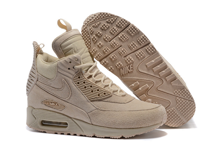 Зимние кроссовки Nikе Air Max 90 Sneakerboot Ice Beige (40-46)