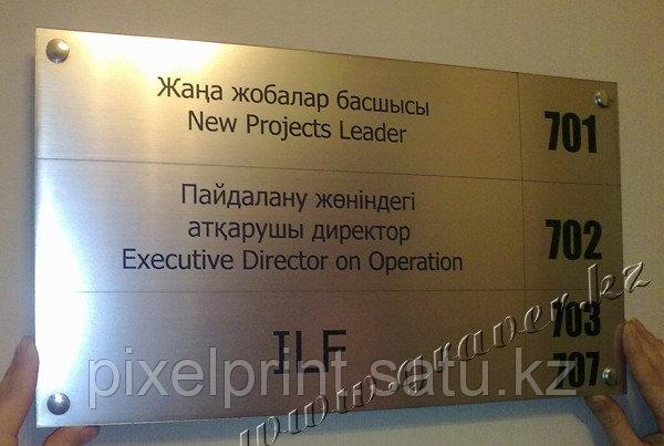 Табличка на этаж