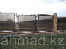 Забор из полигаля (поликарбоната) Алматы