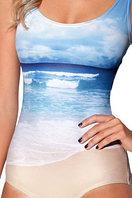 """3D купальник """"Океан-пляж"""" Без чашек"""