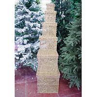 """Фигура световая """"Пирамида из подарков"""" 140 см"""