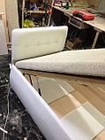 Кровать из белой кожи с подъемником, фото 2
