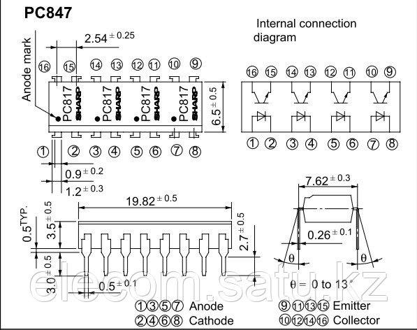 Оптопара PC847