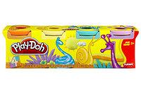 Пластилин цветной 4 баночки в коробке HASBRO PLAY-DOH