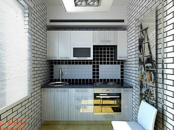Кухня ЛДСП, МДФ 2,4м