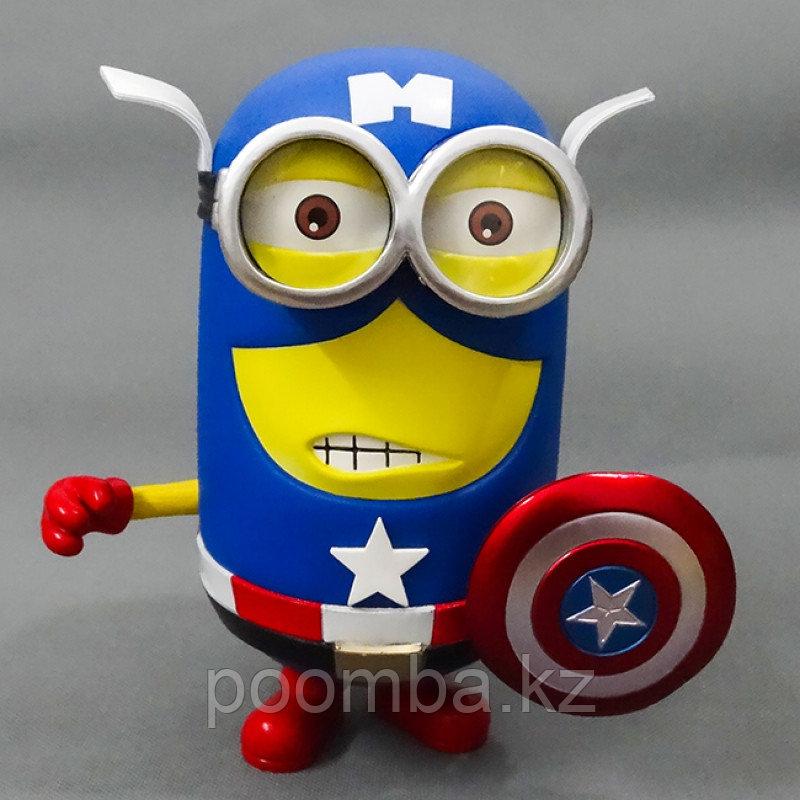Статуэтка Гадкий Я – Миньон Дэйв в костюме Капитана Америки Синквэй Тойс, Despicable Me – Minion Dave Captain