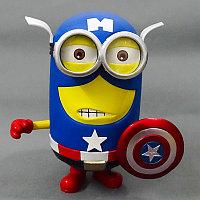 Статуэтка Гадкий Я Миньон Дэйв в костюме Капитана Америки Синквэй Тойс, Despicable Me Minion Dave Captain