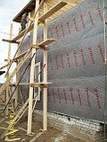 Изоспан АМ Гидроизоляционная ветрозащитная паропроницаемая трёхслойная мембрана  1,6*43,7м, фото 4