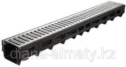 Канал пластиковый с стальной решеткой 115х95х1000мм     Whats up 87075705151