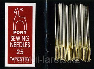 Иглы гобеленовые Pony sewing needles 25 tapestry