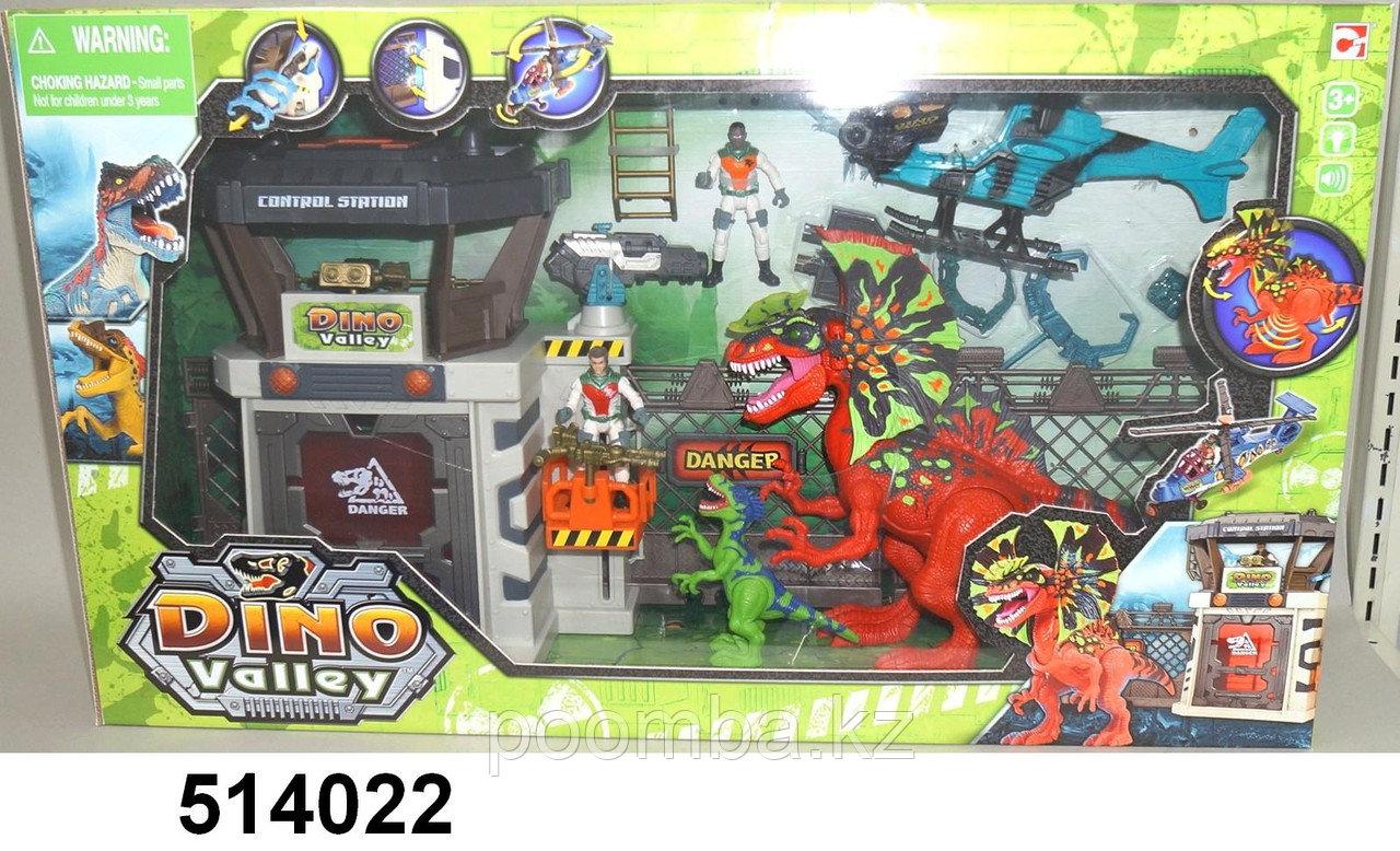 Chap Mei - Долина Динозавров - большой набор с динозаврами, солдатами и аксессуарами (звук, свет)