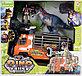Chap Mei - Долина Динозавров 4 - Динозавр со светом и звуком, фигурка героя, машина - охотник, Тиранозавр Рекс, фото 3