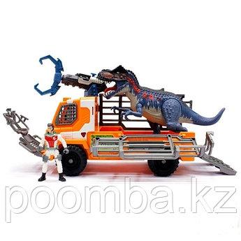 Chap Mei - Долина Динозавров 4 - Динозавр со светом и звуком, фигурка героя, машина - охотник, Тиранозавр Рекс
