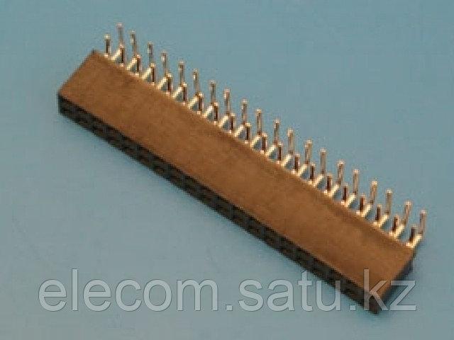 Разъем 2х40(м) для пайки на плату угловой PBD-80R