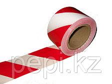 Лента оградительная 75 мм, 100 метров, красно-белая